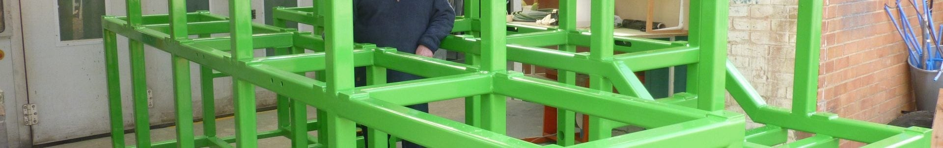 painted component in green